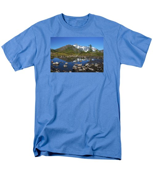 Mt. Shuksan Puddle Reflection Men's T-Shirt  (Regular Fit)