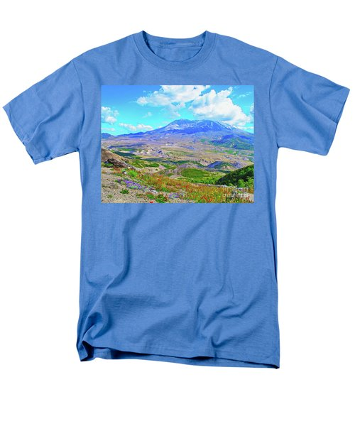 Mt. St. Helens Wildflowers Men's T-Shirt  (Regular Fit) by Ansel Price