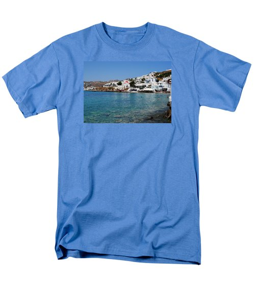 Mykonos Beach Men's T-Shirt  (Regular Fit) by Robert Moss