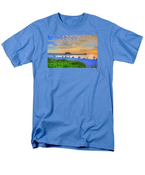 Men's T-Shirt  (Regular Fit) featuring the digital art Naples Beach by Sharon Batdorf