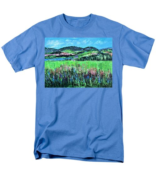 Men's T-Shirt  (Regular Fit) featuring the painting Near Cooperstown by Betty Pieper