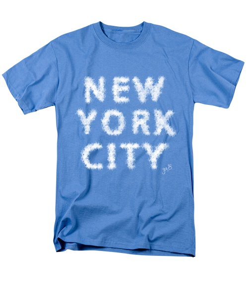 Men's T-Shirt  (Regular Fit) featuring the painting New York City Skywriting Typography by Georgeta Blanaru
