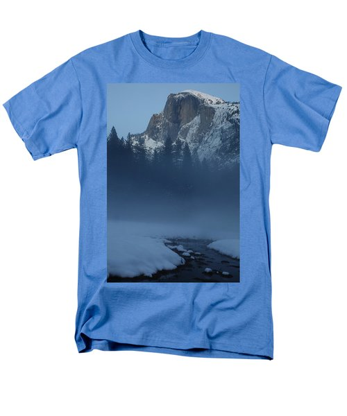 Men's T-Shirt  (Regular Fit) featuring the photograph Night Falls Upon Half Dome At Yosemite National Park by Jetson Nguyen