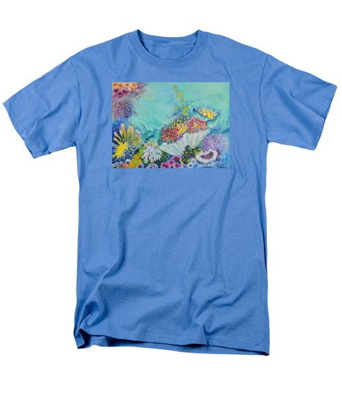 Men's T-Shirt  (Regular Fit) featuring the painting Ningaloo Reef by Lyn Olsen