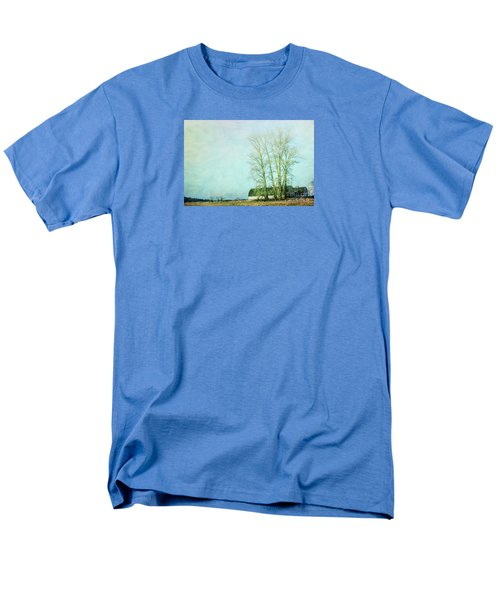 Men's T-Shirt  (Regular Fit) featuring the photograph Nisqually Barns by Jean OKeeffe Macro Abundance Art
