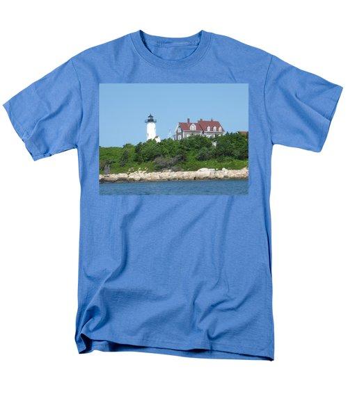 Nobska Point Lighthouse Men's T-Shirt  (Regular Fit) by Donna Walsh