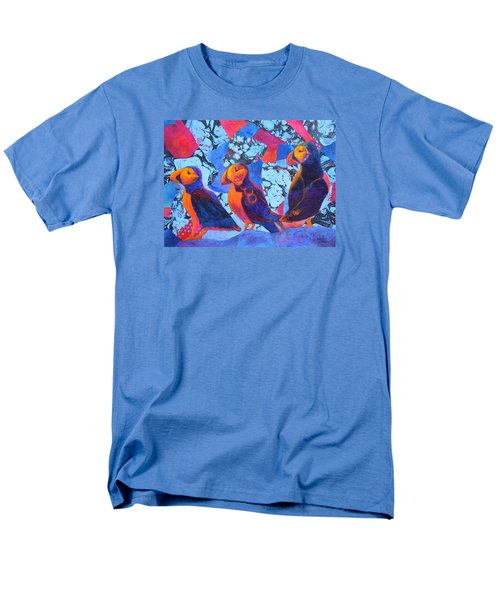 Men's T-Shirt  (Regular Fit) featuring the painting Oh Those Puffins by Nancy Jolley
