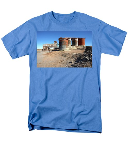 Men's T-Shirt  (Regular Fit) featuring the photograph Old Silver Mine Broken Hill by Bill Robinson