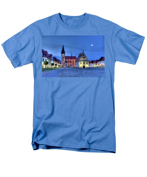 Old Town Square In Bardejov, Slovakia,hdr Men's T-Shirt  (Regular Fit) by Elenarts - Elena Duvernay photo