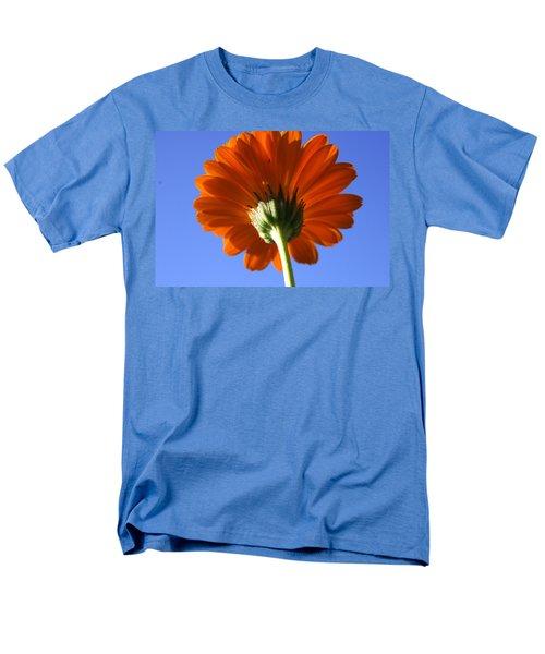 Orange Gerbera Flower Men's T-Shirt  (Regular Fit) by Ralph A  Ledergerber-Photography