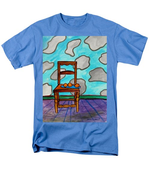 Men's T-Shirt  (Regular Fit) featuring the painting Oranges On A Blue Plate by John Williams