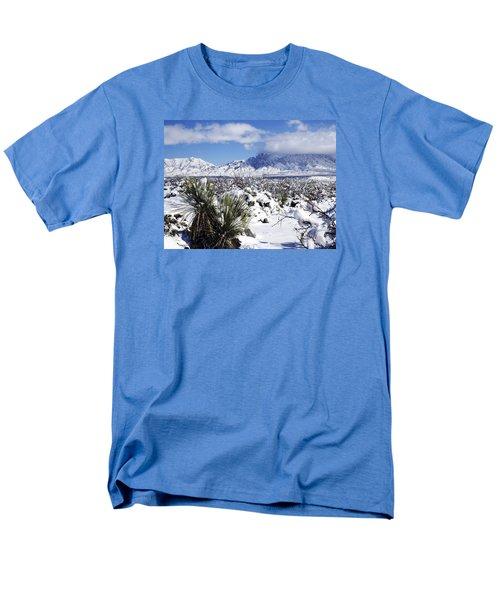 Men's T-Shirt  (Regular Fit) featuring the photograph Winter's Blanket Organ Mountains by Kurt Van Wagner