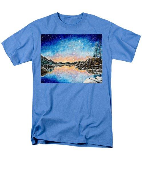 Orion Over Tahoe Winter Men's T-Shirt  (Regular Fit) by Matt Konar