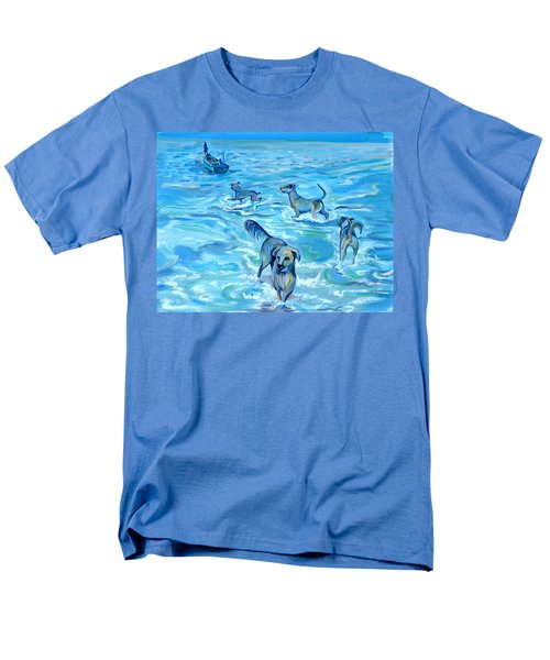 Men's T-Shirt  (Regular Fit) featuring the painting Panama. Salted Dogs by Anna  Duyunova
