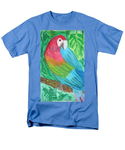 Men's T-Shirt  (Regular Fit) featuring the painting Parrot At Sundy House by Donna Walsh