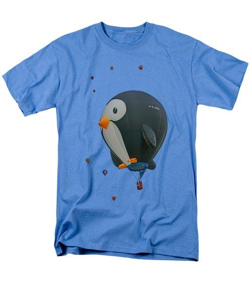 Penguin - Hot Air Balloon - Transparent Men's T-Shirt  (Regular Fit) by Nikolyn McDonald