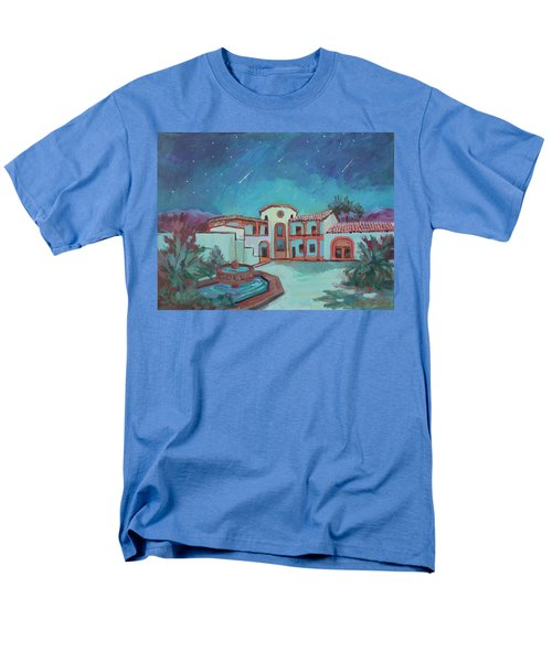 Men's T-Shirt  (Regular Fit) featuring the painting Perseids Meteor Shower From La Quinta Museum by Diane McClary