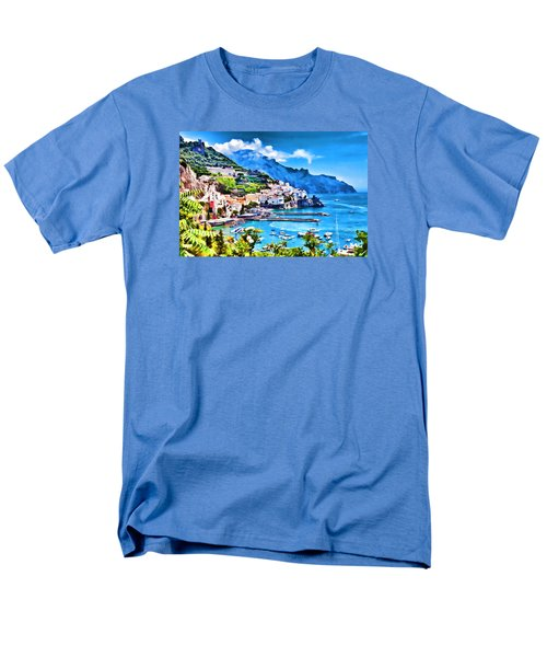 Picturesque Italy Series - Amalfi Men's T-Shirt  (Regular Fit) by Lanjee Chee