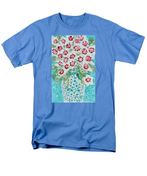 Pink And White Flowers Men's T-Shirt  (Regular Fit)