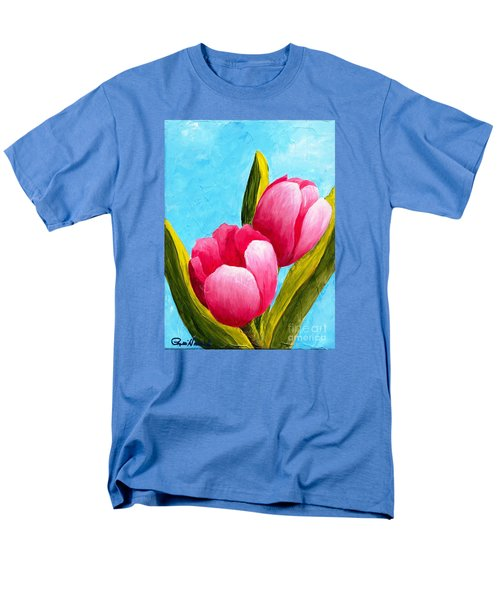 Pink Bubblegum Tulips I Men's T-Shirt  (Regular Fit) by Phyllis Howard