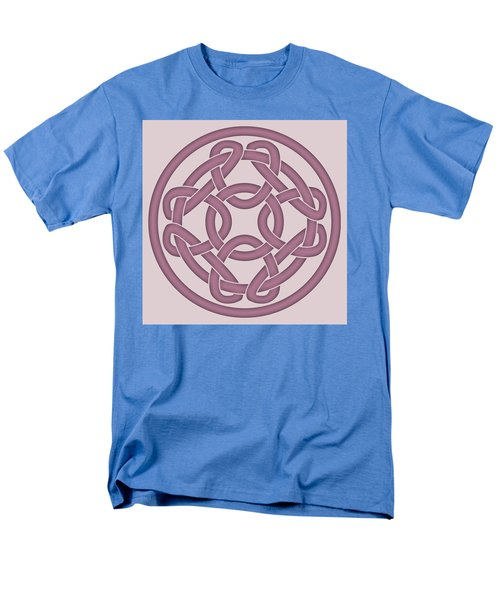 Men's T-Shirt  (Regular Fit) featuring the digital art Pink Celtic Knot by Jane McIlroy