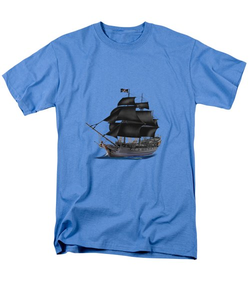 Pirate Ship At Sunset Men's T-Shirt  (Regular Fit) by Glenn Holbrook