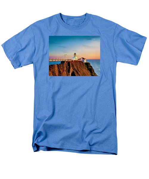 Point Bonita Lighthouse Men's T-Shirt  (Regular Fit) by Douglas MooreZart
