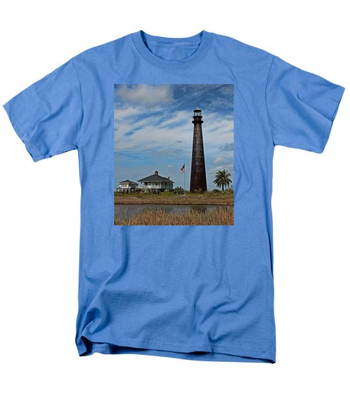 Port Bolivar Lighthouse Men's T-Shirt  (Regular Fit) by Judy Vincent