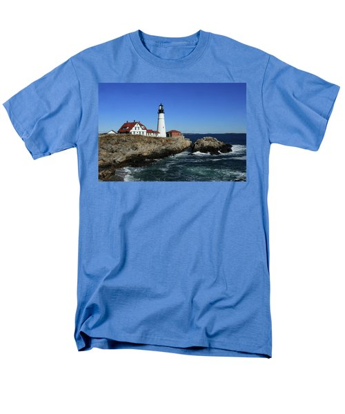 Portland Head Lighthouse Men's T-Shirt  (Regular Fit) by Lou Ford