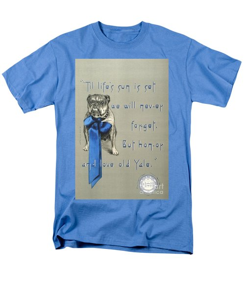 Men's T-Shirt  (Regular Fit) featuring the painting Poster - Yale Bulldog by Pg Reproductions