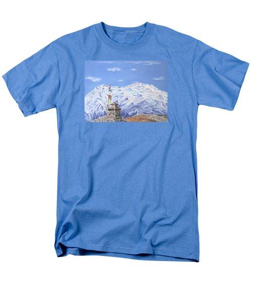 Prayer Flag Men's T-Shirt  (Regular Fit) by Elizabeth Lock