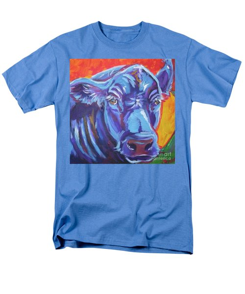 Pretty Face Cow Men's T-Shirt  (Regular Fit) by Jenn Cunningham