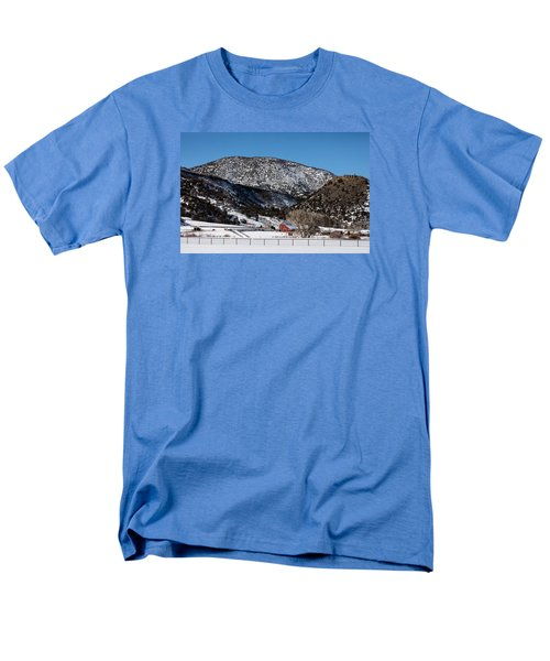 Pretty Red Barns From The Highway Between Aspen And Snowmass Men's T-Shirt  (Regular Fit) by Carol M Highsmith