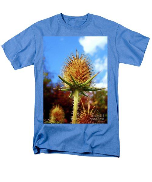 Men's T-Shirt  (Regular Fit) featuring the photograph Prickly Thistle by Nina Ficur Feenan