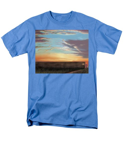 Private Sunrise.  Keep Out Men's T-Shirt  (Regular Fit) by Albert Puskaric