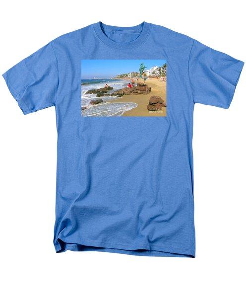Puerto Vallarta Beachfront Men's T-Shirt  (Regular Fit)