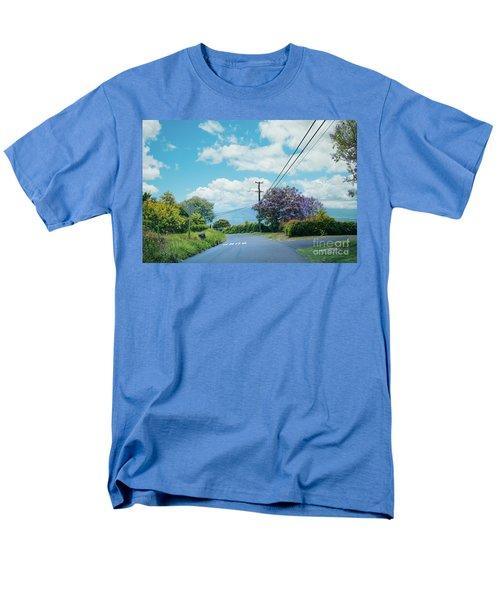 Pulehuiki Road Upcountry Kula Maui Hawaii Men's T-Shirt  (Regular Fit) by Sharon Mau