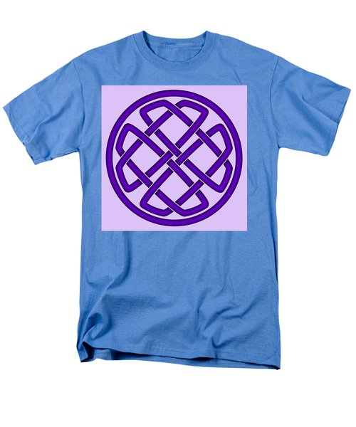 Men's T-Shirt  (Regular Fit) featuring the digital art Purple Celtic Knot by Jane McIlroy