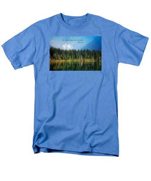Men's T-Shirt  (Regular Fit) featuring the photograph Quiet Reflections 2 by Lynn Hopwood