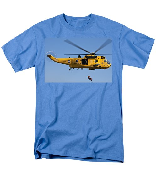 Raf Sea King Search And Rescue Helicopter 2 Men's T-Shirt  (Regular Fit) by Steve Purnell