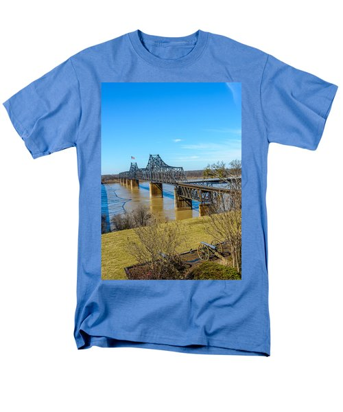 Men's T-Shirt  (Regular Fit) featuring the photograph Rail Road Bridge by Jerry Cahill