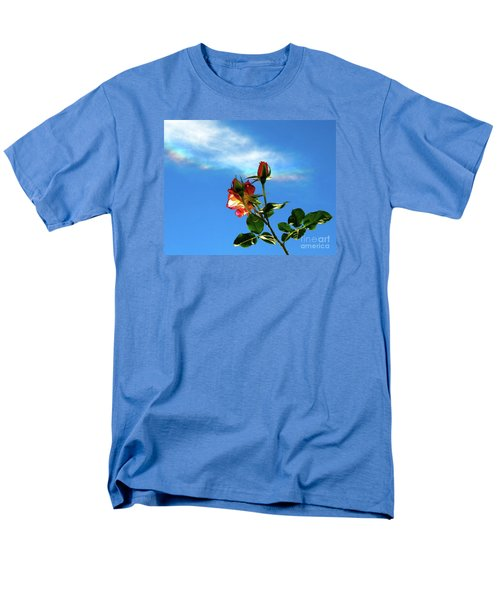 Rainbow Cloud And Sunlit Roses Men's T-Shirt  (Regular Fit) by CML Brown