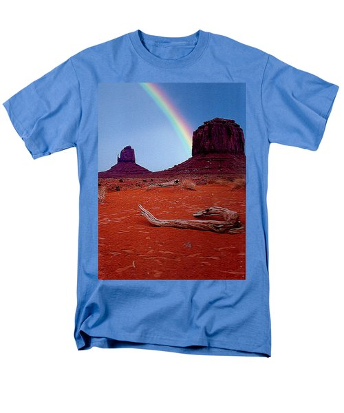 Rainbow In Monument Valley Arizona Men's T-Shirt  (Regular Fit) by Merton Allen