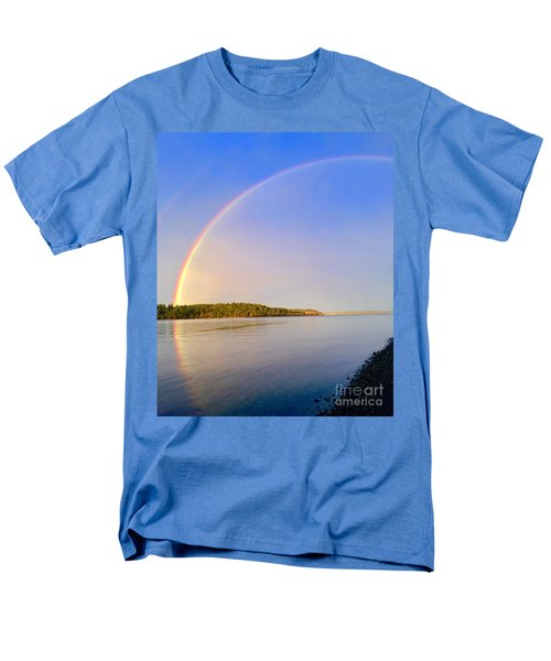 Rainbow Reflection Men's T-Shirt  (Regular Fit) by Sean Griffin