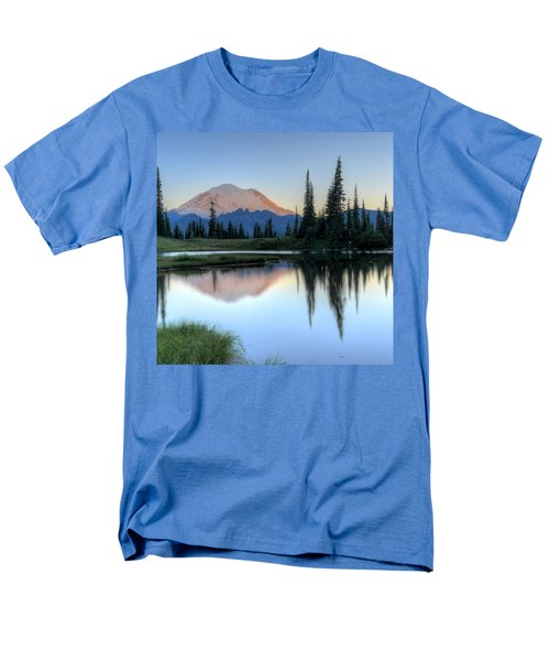 Rainier From Tipsoo Men's T-Shirt  (Regular Fit) by Peter Mooyman