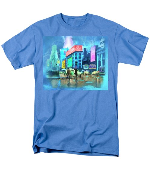 Rainy Night In New York Men's T-Shirt  (Regular Fit) by Michael Cleere