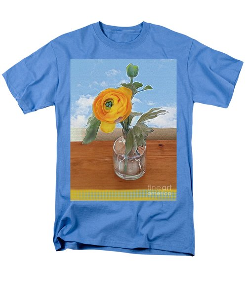 Men's T-Shirt  (Regular Fit) featuring the digital art Ranunculus Spring by Alexis Rotella