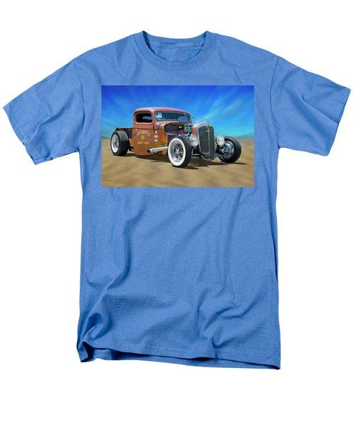 Men's T-Shirt  (Regular Fit) featuring the photograph Rat Truck On The Beach by Mike McGlothlen
