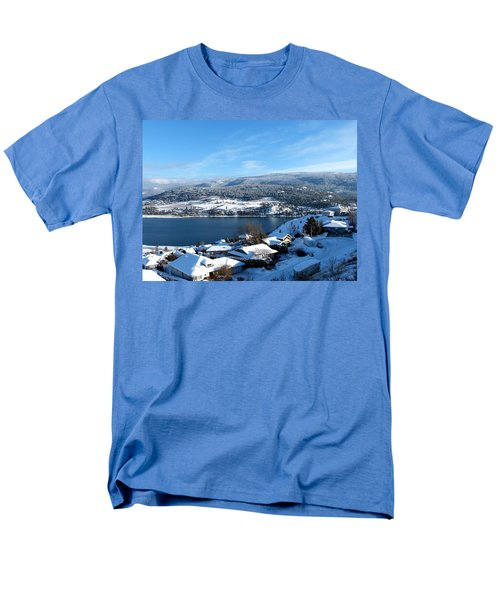 Men's T-Shirt  (Regular Fit) featuring the photograph Red Barn In The Distance by Will Borden