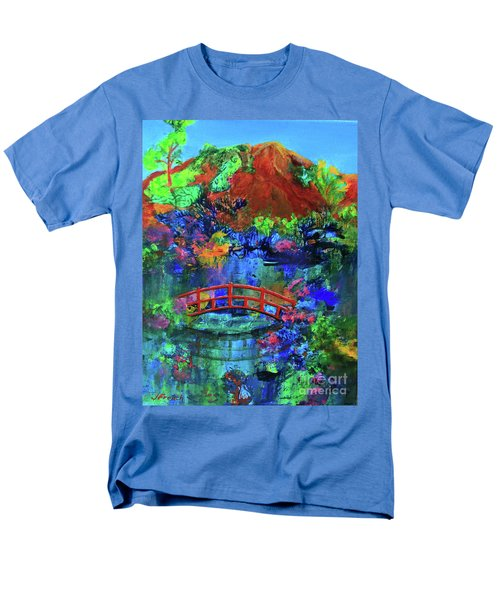 Red Bridge Dreamscape Men's T-Shirt  (Regular Fit) by Jeanette French
